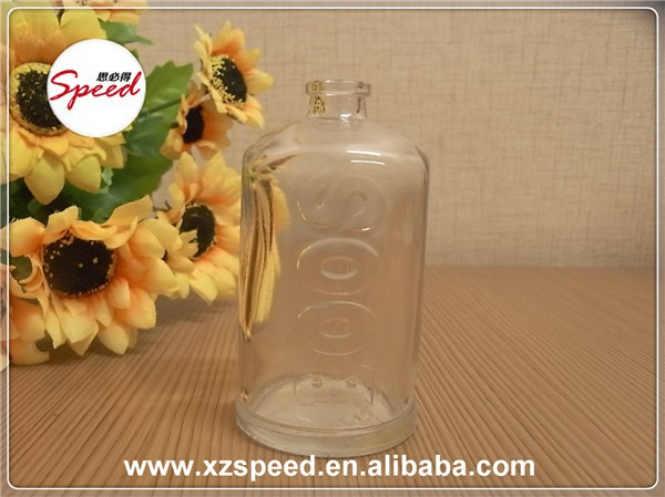 60ml Clear Cylinder Spray Perfume Glass Container with Embossed BOOS Logo