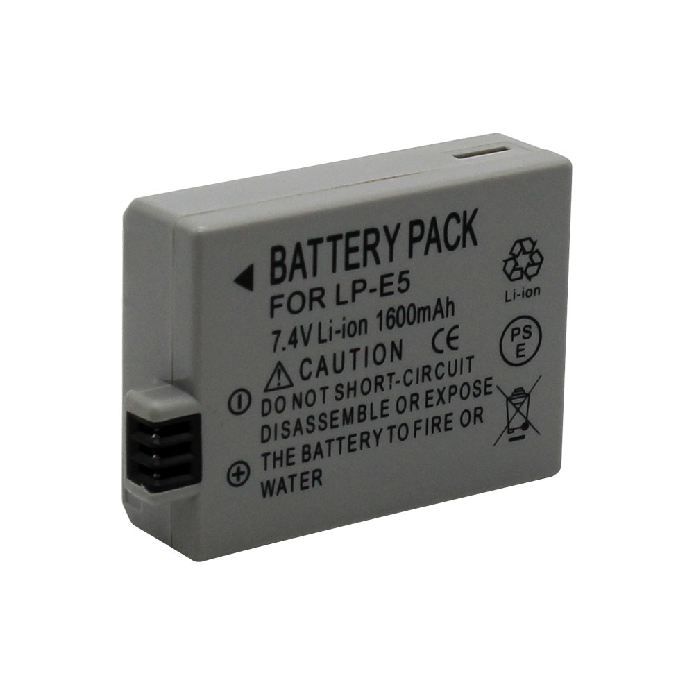 LP-E5 LPE5 LP E5 Rechargeable Camera 1600mAh  Battery For Canon EOS 450D 500D 1000D Kiss X3 Kiss F Rebel Xsi