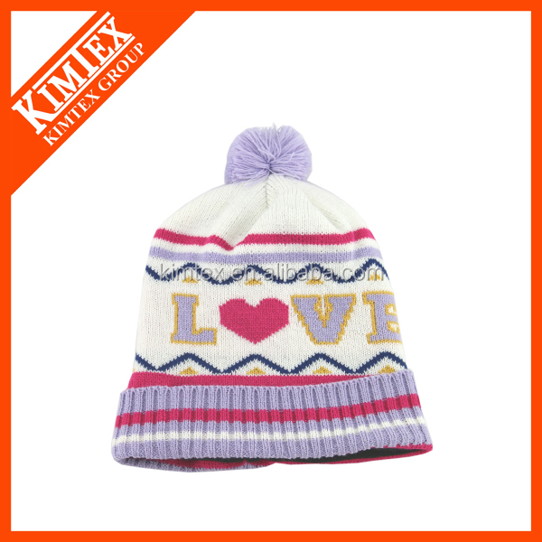 2018 new fashion custom knitted beanie hat