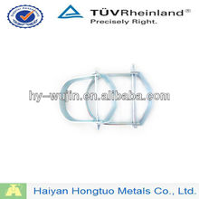 galvanized steel double pipe clamps