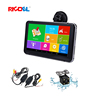 7 inch Handheld Car Gps Navigation with Wireless Rearview Camera Black Box Car Dvr Device