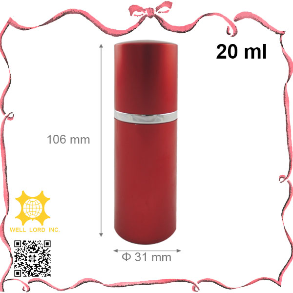 Graceful wine red plating outer cover 20ml perfume atomizer