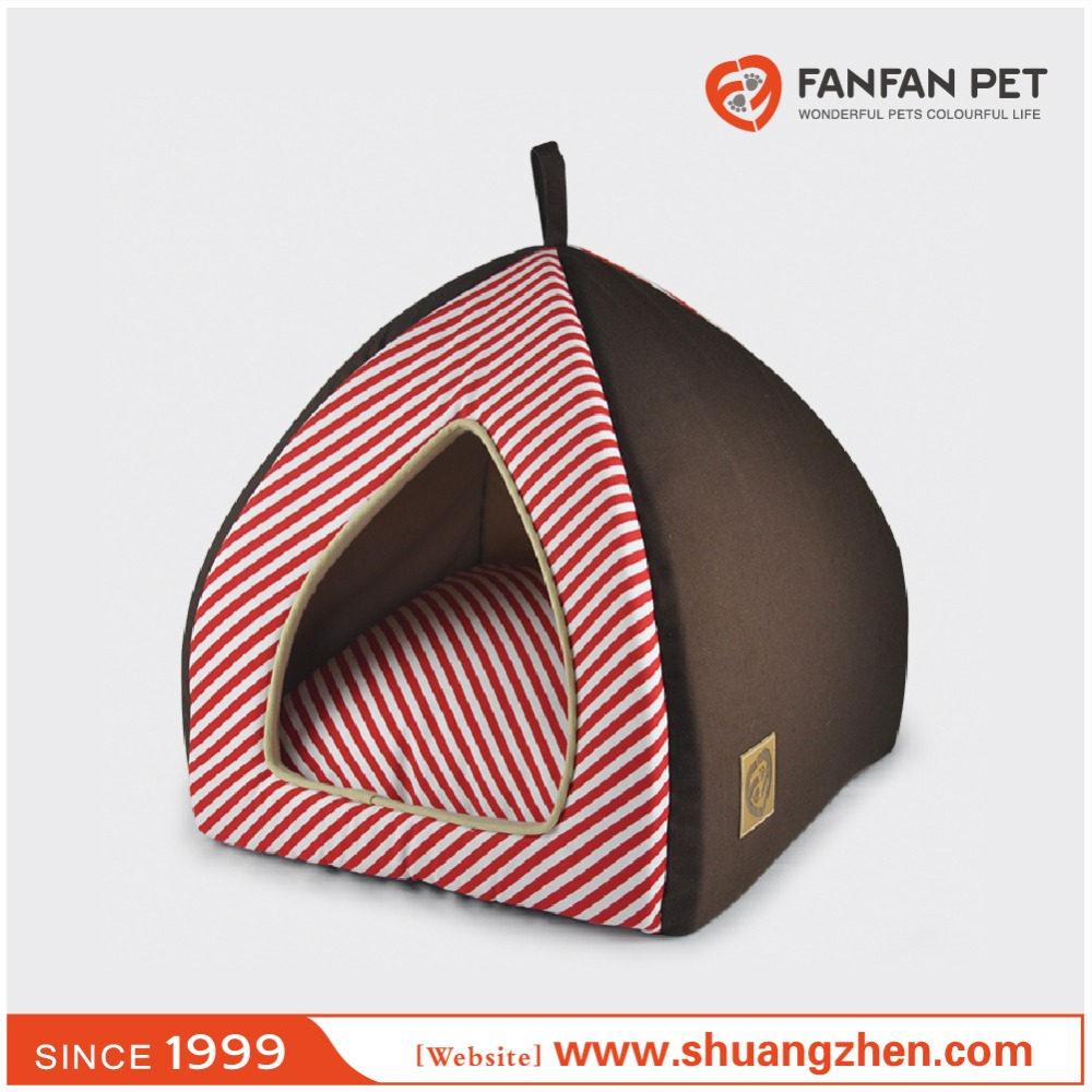 Red strip cotton Portable popular Dog Kennel M