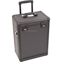 All Black PRO Aluminum Rolling Cosmetic Case Makeup Drawers Numlock Trolley