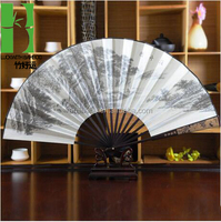 The best-seller paper painted cheap big folding bamboo hand fan