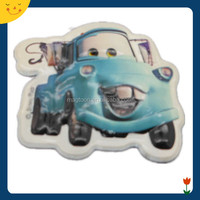 3D promotional cute car shape raised PVC fridge magnet