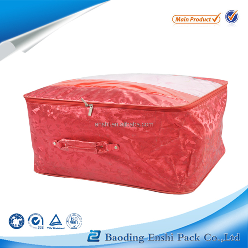 luxury plastic pvc mattress packaging bag with zipper