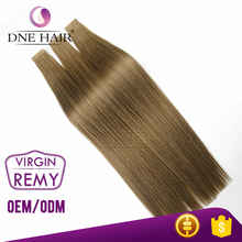 Wholesale 14 - 30 Inch Remy Virgin Skin Weft Invisible Ombre Double Tape In Human Hair Extensions