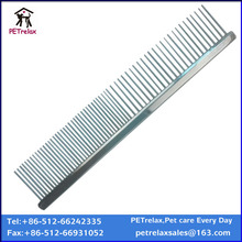 high quality soft square cooper handle metal comb for dog and cat with free sample