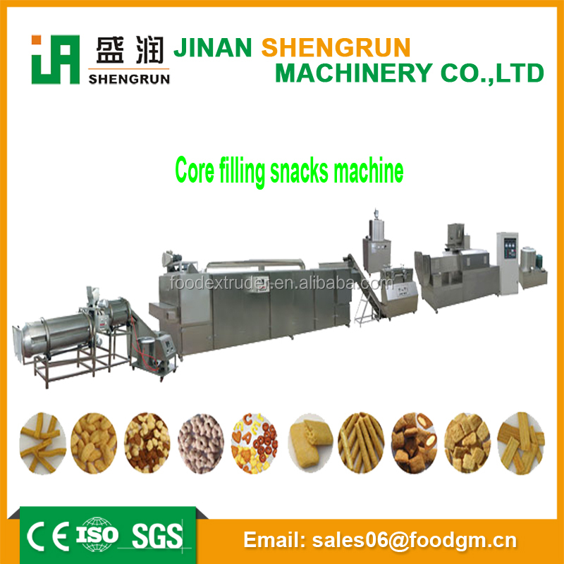 High technology low investment food making machine core filling snack production line