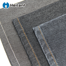 high quality black color organic cotton polyester woven textile denim fabric for jeans