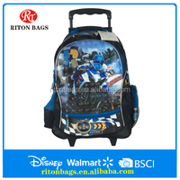 The Popular Motorcycle Cheap Trolley school Bag for Kids Boys