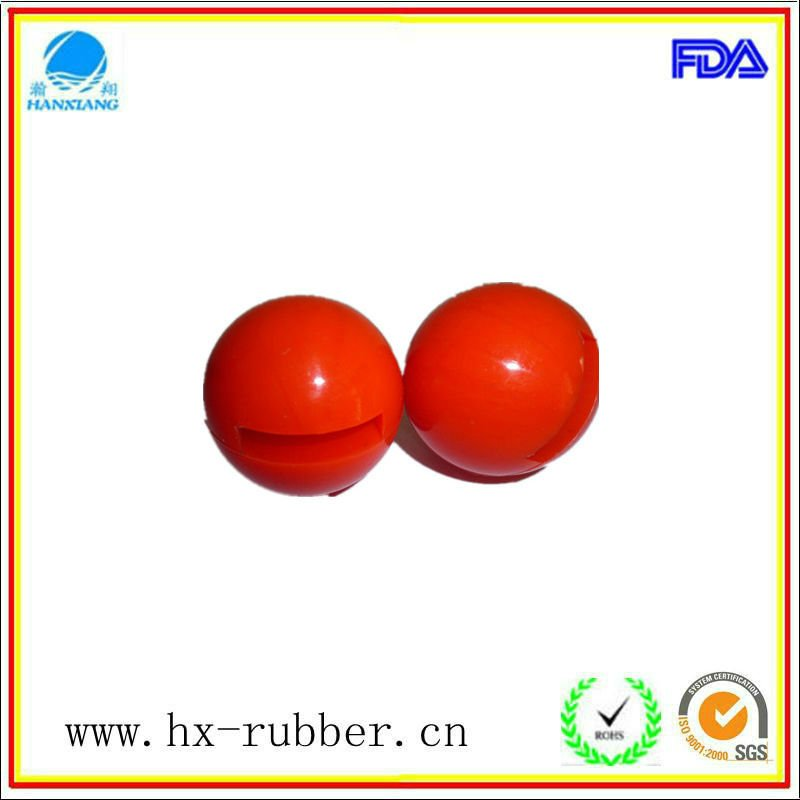 made in china rubber coated steel ball