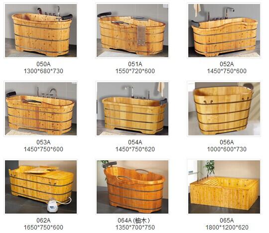 Canada Cedar Wooden Barrel Bathtub Bath Tub With Cover