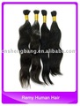 "Virgin Human Hair Bulk virgin peruvian hair 20"", Natural black hair ,best quality"