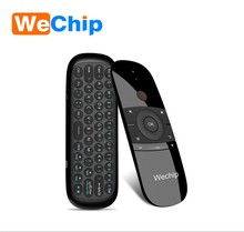 Wechip Mini Air Mouse W1 Russian/English MINI Air Mouse Wireless Keyboard 2.4G Mention Sensing Fly Mouse For Android TV Box/PC