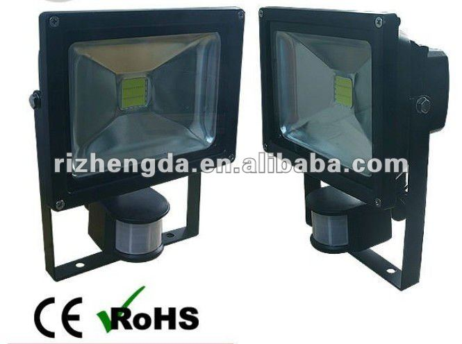 2012 hot best selling 50W LED lux Floodlight with PIR motion sensor CE ROHS LVD EMC low price