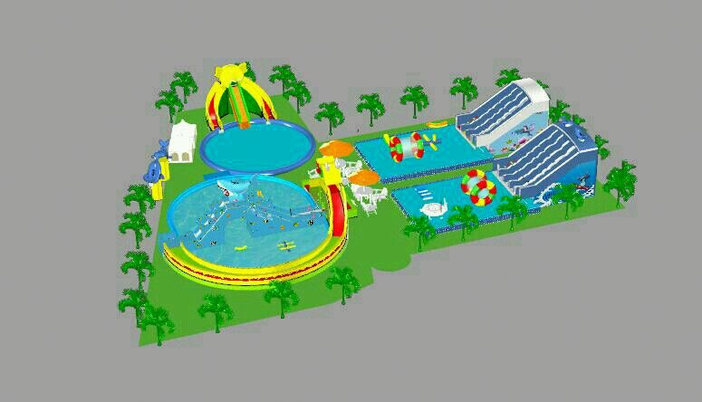 water park inflatable aqua trampoline comb water park