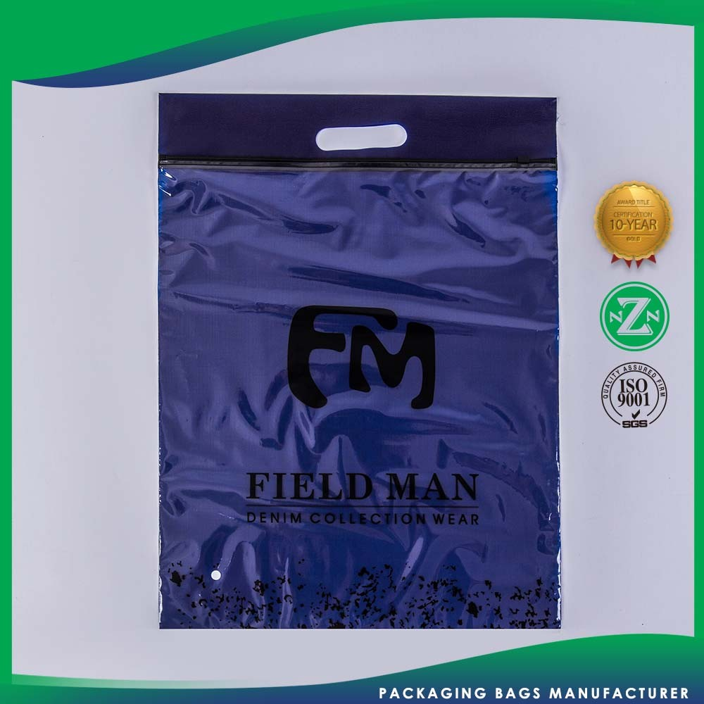 Top Quality Oem Service Fashionable Plastic Thick Zip Lock Bag