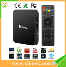 2017 android tv box with usb 3.0 s905x quad core TX3 pro watch free tv box