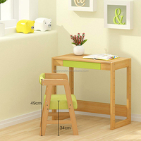 wooden furniture kids study desk & chair set