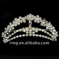 Wedding princess consort crown decorative hair side comb