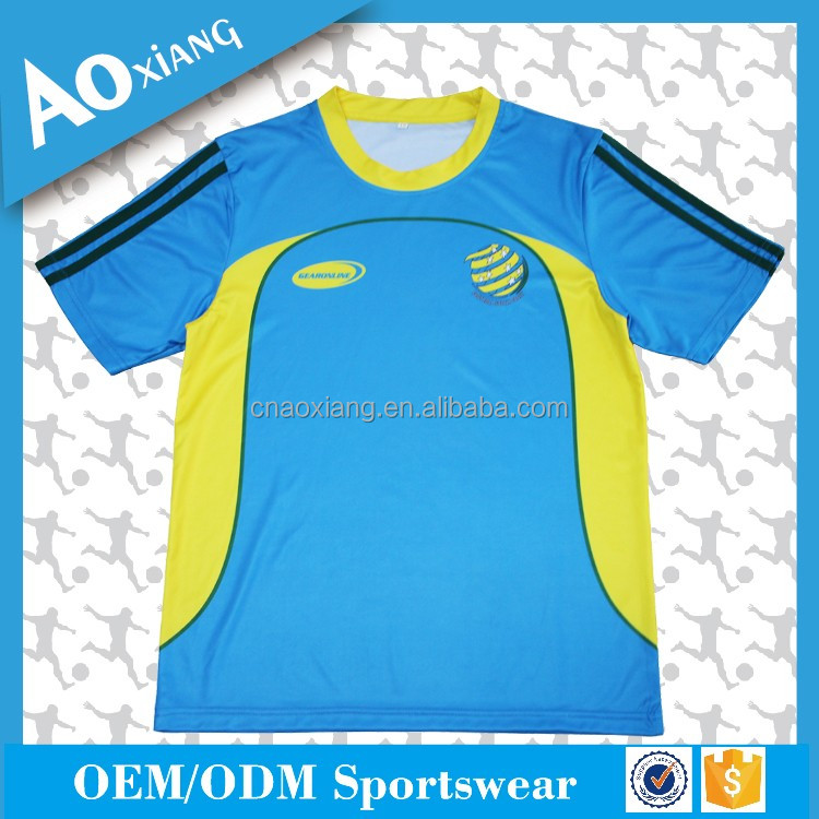 Training sports wear custom design plain soccer jersey wholesale