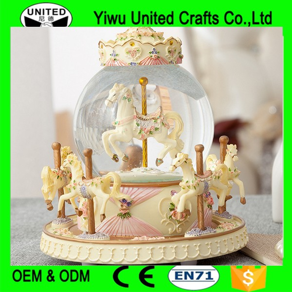 New Style Wooden Carousel Music Box For Christmas or Valentine's Day