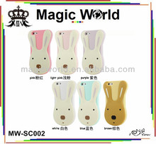 cute rabbit phone case ,silicone case for iphone4 4s