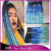 Fatocry price top quality 20inch folded 3 tone colored synthetic hair jumbo braiding 6pcs