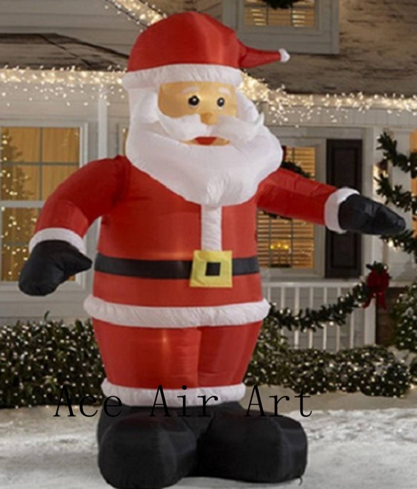 6M Tall Animated Waving Santa Claus, Led Lighted Christmas Inflatable