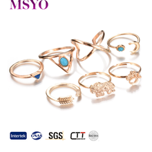 MSYO brand retro ally express cheap wholesale ring animal shape women gold jewelry set