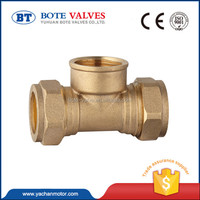 new design brass air conditioning y tee copper pipe fitting valve