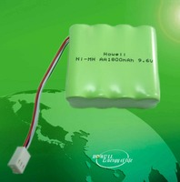 CE UL Approved High temperature 1300mah 9.6v nimh rechargeable battery pack aa / rechargeable battery nimh nimh 9.6v
