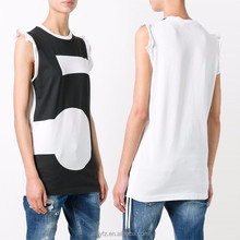 Guangdong factory wholesale summer round neck sleeveless 100%cotton tank top for women casual wear