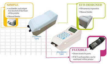 PCT-100( Bonus card terminal Magnetic card thermal printer pet card barcode printer point card