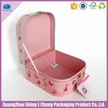Fancy aluminum makeup vanity box with lock for wooden cosmetic box