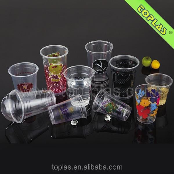 Popular disposable Plastic Cup /Color Cup / PP, PS, PET disposable Plastic Cup