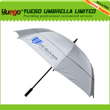 business double canopy silver coating uv golf waterproof fabric for umbrella