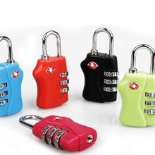 HOT265 Christmas Gift Colorful Custom Travel Secure Code TSA Lock, Luggage 3 Digital Combination TSA Code Lock Padlock