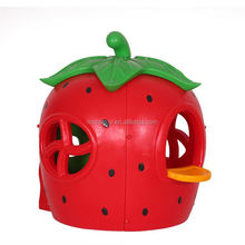 Hot sale superior quality plastic house outdoor indoor cheap kids strawberry playhouse with door and window