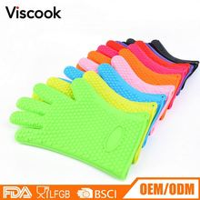 Manufacturer Supplies Microwave Oven Bbq Silicone Hand Gloves