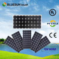 Bluesun TUV CE ISO IEC certificated 100WP mono silicon photovoltaic pv solar module of 50w 75w 100w