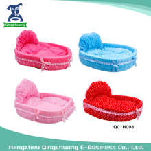 Wholesale Lace Bowknot Pet House Luxury Dog Bed