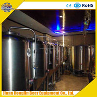 mini copper beer making system,200L restaurant beer brewing equipment