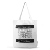 Colorful Tote Bag recycled from PET bottle, Foldable, Reusable, Washable, Lightweight