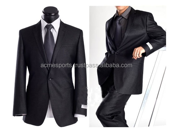 top brand business mens suit - Wholesale Cheap Mens Suits 2014 - 2014 Fashion Style Two Buttons Three Piece Set Men's Suit
