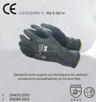 RS SAFETY open back softtextile knit nitrile/PU micro foam work hard gloves