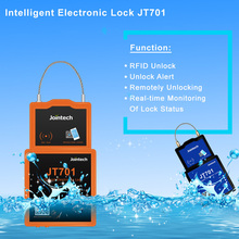E-lock container tracker GPS tracking 2G/3G Trailer padlock cargo monitor JT701