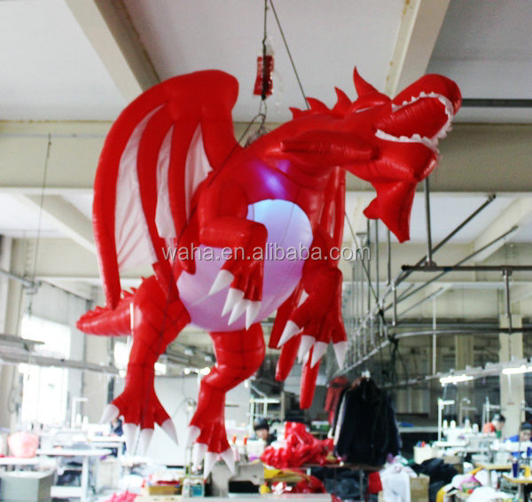 hot popular inflatable giant dragon,inflatable dragon red